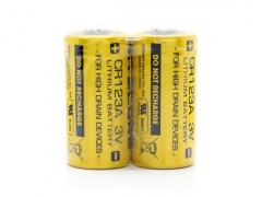 Two Lithium Battery CR123